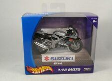 Hot Wheels Motorrad Suzuki GSX - R OVP mint in Box grau / schwarz 1:18