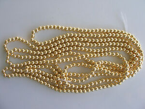 Japanese 2,3,4,5,6 & 8mm MEDIUM Gold Faux/Plastic Pearls Beads Strands Round