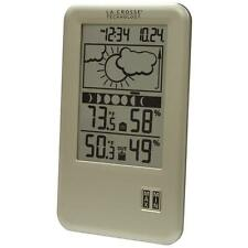 LaCrosse Tech Wireless Indoor/Outdoor LCD Home Weather Forecast Station w/ Clock