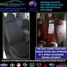 Volkswagen Amarok 2H Front Neoprene Car Seat Covers - WITH LUMBAR