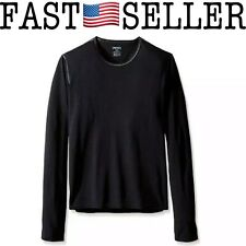 NEW Hot Chillys Youth's Fleece Crew Black Pepper Skins Crewneck Top - Large Size