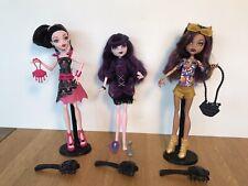 Monster High Dolls Draculaura, Elissabat, Clawdeen Wolf