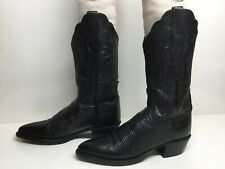 WOMENS LUCCHESE 2000 COWBOY BLACK BOOTS SIZE 5.5 B
