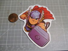 TOON FLYING THOR  Sticker / Decal Skateboard Stickers Actual Pattern NEW GLOSSY
