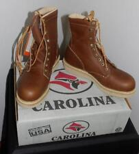 "RETIRED NOS VINTAGE #198 CAROLINA MEN'S WORK OUTDOOR 8"" BOOTS MADE IN USA"