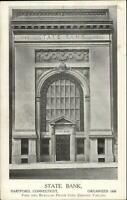 Hartford CT State Bank View w/ Capital Surplus etc c1910 Postcard #4 EXC COND