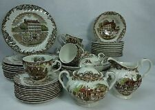 JOHNSON BROTHERS china HERITAGE HALL England 53-piece SET SERVICE for Ten (10)