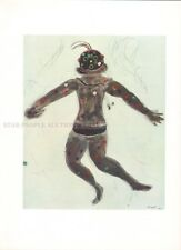 MARC CHAGALL - DEMON * RARE PRINT from 1969 mourlot