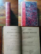 COURS PHYSIQUE MEDICALE GARIEL 1892 PARIS