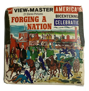 View-Master FORGING A NATION America's Bicentennial B811 - 3 Reels + Booklet