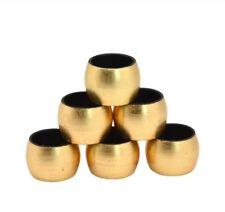 Round Napkin Rings Gold 6 Serviette Holder Wedding Dinner Party Xmas Table Decor