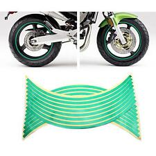 Bike Motorcycle Car Tyre Tire Reflective Sticker 16 Strips Tape Decal Reflector