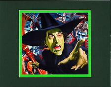 WICKED WITCH Of The WEST & FLYING MONKIES PRINT PROFESSIONALLY MATTED Wizard OZ