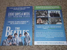 """THE BEATLES """"Eight Days A Week - The Touring Years"""" lot of 2 UK Promo postcards"""