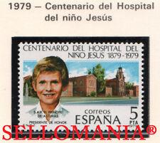 1979 HOSPITAL NIÑO CHILD JESUS PRINCIPE ASTURIAS EDIFIL 2548 ** MNH TC21196