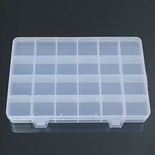 24 Grid Plastic Box Case Jewelry Bead Storage Container Craft Organizer Steady