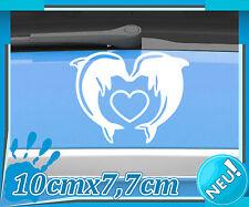 Auto Herz Aufkleber, Delfin Liebe Sticker, Motorrad Hochzeit Tattoo Love 2A009_1