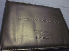 2009 BENTLEY CONTINENTAL SUPERSPORTS OWNERS MANUAL OWNER'S NEW