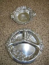 Arthur Court Tipper Snaggles Baby Teddy Bear Bowl & Divided Child Plate Lot of 2