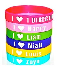 ONE DIRECTION 1D pack of 6 Harry, Louis  wristband bracelet *SAME DAY POST