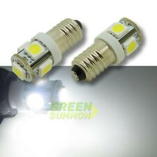 2X E10 5-SMD 5050 LED White Lights Miniature Screw Bulb for DIY LIONEL DC 12V