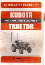 Kubota B6100HST Tractor Illustrated Parts List