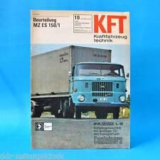 DDR KfT Kraftfahrzeugtechnik 10/1970 MZ ES 150/1 Range Rover Wagoneer Chevrolet
