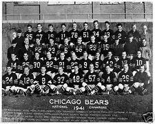 1941 CHICAGO BEARS NFL CHAMPIONS 8X10 TEAM PHOTO LUCKMAN MCAFEE BULLDOG TURNER