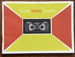 Original Kodak Stereo Camera Instruction Manual