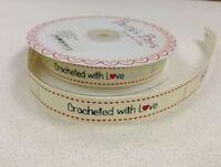 BONNETERIE with love COUTURE étiquettes x 3 mètres - Crème Ruban étiquette