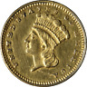 1877 Type 3 Indian Princess Gold $1 Nice BU Details Key Date Nice Eye Appeal
