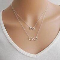 Halskette Kette Infinity Unendlich Schmuck Damenkette Kette Damen silber gold