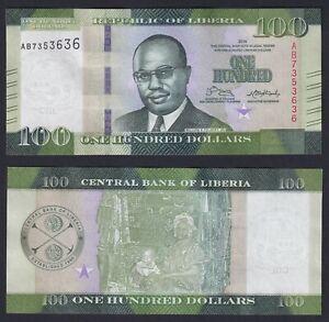 Liberia 100 dollars 2016 FDS/UNC  C-07