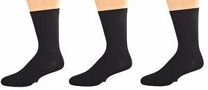 Sierra Socks Big Boys' Casual Dress Uniform Rib 3 Pair Pack Crew Socks K263 3007