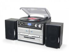 Soundmaster MCD5500SW, DAB+ Radio/Doppelkassette/CD/Plattenspieler,USB, Encoding