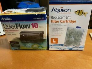 Aqueon Quiet Flow 10 Aquarium Fish Filter Cleaner with Cartridge