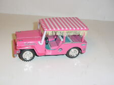 Vintage 1950's Tin Friction Beach Jeep by Cragston W/Box! Excellent!