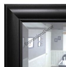 Custom Brazilian Walnut Beveled Wall Mirror, Mantle & Bathroom Art Home Decor