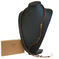 Auth LOUIS VUITTON Bandouliere Cell Phone Strap Leather Brown M63058 07AC047