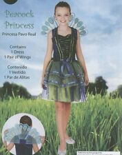 HALLOWEEN GIRLS PEACOCK WINGS PRINCESS COSTUME CHILD SIZE SMALL 4-6 BRAND NEW