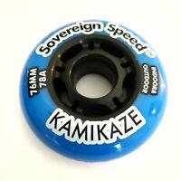 8x 76mm Indoor-Outdoor Inline Skate Wheels rollerblade roller hockey fitness 78a