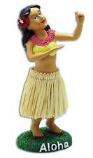 Dashboard Hula Girl Doll Dancing Natural Skirt Hawaiian Hawaii Island NIB