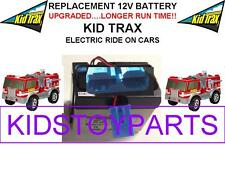 NEW! LONG LASTING FIRE TRUCK KID TRAX 12 VOLT OEM RECHARGEABLE BATTERY BLUE PLUG