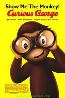 CURIOUS GEORGE MOVIE POSTER  DS ORIGINAL 27x40 ONE SHEET 2006 ANIMATION FILM