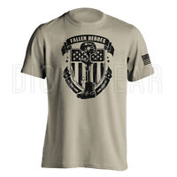 Fallen Heroes Soldier Cross Army Military Patriotic American Shirt S M L XL 2XL