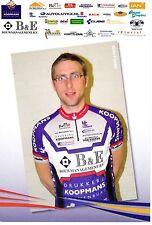 CYCLISME carte cycliste ALDO KLOMP équipe B&E bouwmanagement b.v.
