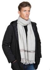 Écharpes grises pour homme en 100% laine