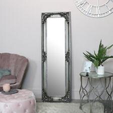 Tall Slim Silver Ornate wall Mirror french vintage wall bedroom bathroom decor