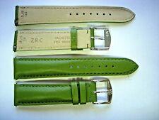 1 Bracelet ZRC 18 mm VERT FAIT MAIN strap handmade band racing watch cuir 1Chrom