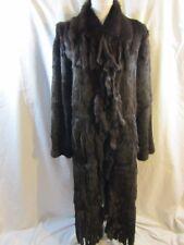 EBENE by PATRICK ASSULINE Womans Long Brown Rabbit Fur Coat **Size See Below**